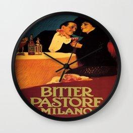 Vintage poster - Bitter Pastore Milano Wall Clock