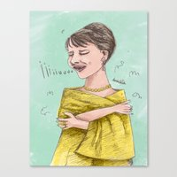 sopranos Canvas Prints featuring The Sopranos: Maria Callas by bananodromo / illustration & photography