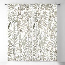 Grey Botanical Blackout Curtain