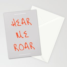 Hear Me Roar Stationery Cards