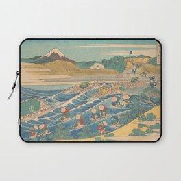 Fuji Seen from Kanaya on the Tōkaidō, Series Thirty-six Views of Mount Fuji by Katsushika Hokusai Laptop Sleeve