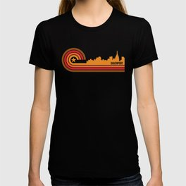 Retro Davenport Iowa Skyline T-shirt