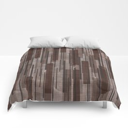 Brown Line Grid Comforters