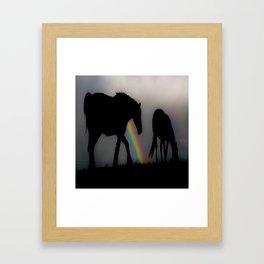 Silhouette of Color Framed Art Print