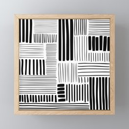 Black and White Abstract Pattern Framed Mini Art Print