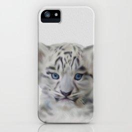 léopard des neiges iPhone Case