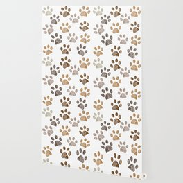 Brown colored paw print background Wallpaper