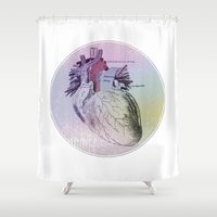 artsy Shower Curtains featuring artsy heartsy by Eric Um