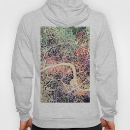 London Mosaic Map #1 Hoody