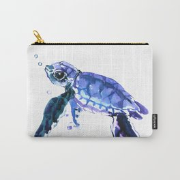 Cute Baby Turtle, blue  turtle art, turtle illustration nursery children gift Carry-All Pouch