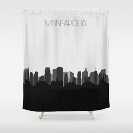 City Skylines: Minneapolis (Alternative) Shower Curtain