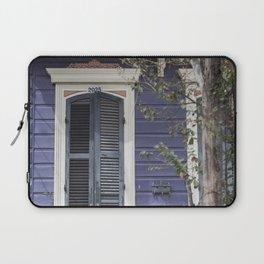 New Orleans Blue Marigny Door Laptop Sleeve