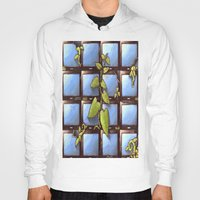 technology Hoodies featuring Technology Vs Nature  by The Art Experiment co