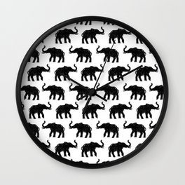 Elephants on Parade Wall Clock