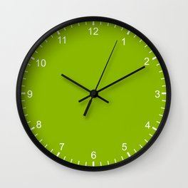 Simply Fresh Spring Apple Green- Mix and Match with Simplicity of Life Wall Clock