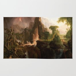 Thomas Cole - Expulsion from the Garden of Eden, 1828 Rug