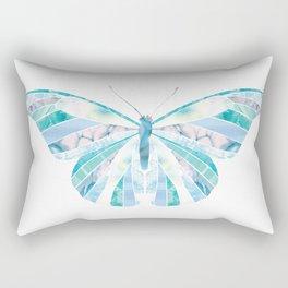 Beautiful Blue Butterfly Rectangular Pillow
