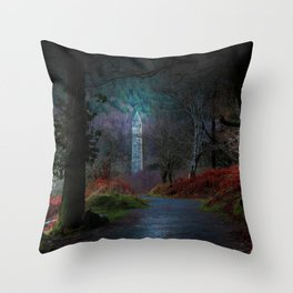 County Wicklow Ireland Fairytale Land Woodland Photography Throw Pillow
