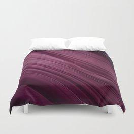 Purple Waves Duvet Cover