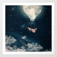 The Moon Carries Me Away Art Print