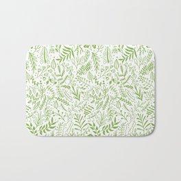 Greenery Garden Seamless Pattern Bath Mat