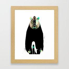 Where Bear meets Dear Framed Art Print