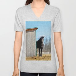 Percheron Horse by Teresa Thompson Unisex V-Neck