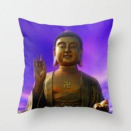 Buddha Blue Dawn Throw Pillow