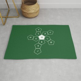 Green Unrolled D12 Rug