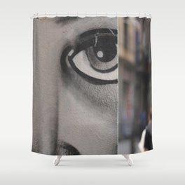The Eye of Barcelona Shower Curtain