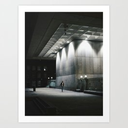A man in the Dublin night Art Print