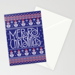 Merry Christmas from Snowman Stationery Cards