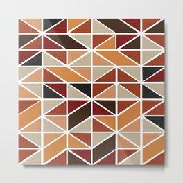 African Tribal Pattern No. 126 Metal Print