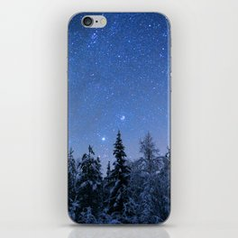 Shimmering Blue Night Sky Stars 2 iPhone Skin