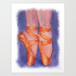 ON YOUR TOES Art Print