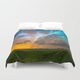 Glorious - Stormy Sky and Kansas Sunset Duvet Cover