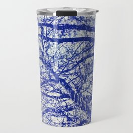 Solitary Tree in the Shadow of a Blue Moon Travel Mug