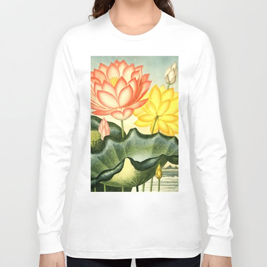 New Illustration Of The Sexual System : The Sacred Egyptian Bean Long Sleeve T-shirt