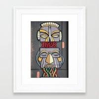 totem Framed Art Prints featuring Totem by Sébastien BOUVIER