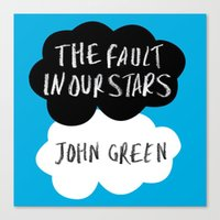 tfios Canvas Prints featuring TFiOS by Diana