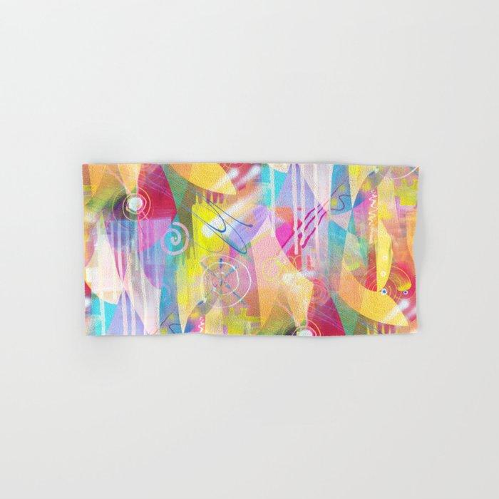 Summer Chaos Painted Hand & Bath Towel
