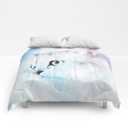 Fluffy starry cat Comforters