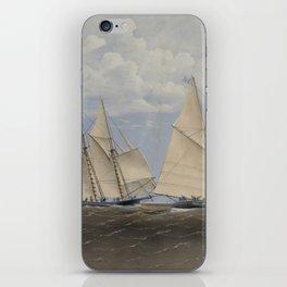 Vintage Yacht Race Illustration (1867) iPhone Skin