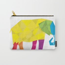 Elephant in polygon style vector Carry-All Pouch