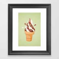 Swirl Icecream Framed Art Print