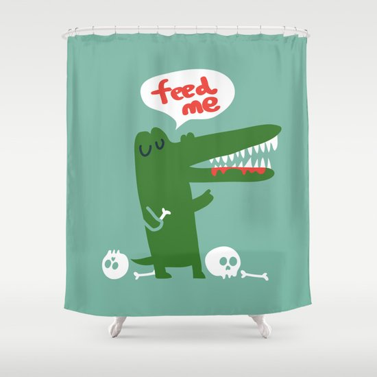 Hungry Hungry Alligator Shower Curtain