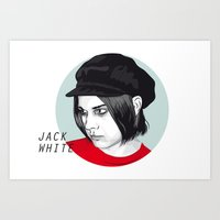 jack white Art Prints featuring JACK WHITE by Nuk_