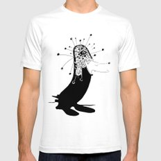 magic penguin White SMALL Mens Fitted Tee
