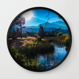 Tahoe Mountains Wall Clock
