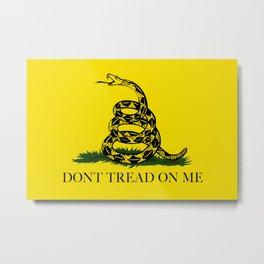 Gadsden Don't Tread On Me Flag - Authentic version Metal Print